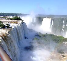 Iguassu Falls, Brazil, South America by Maureen Smith