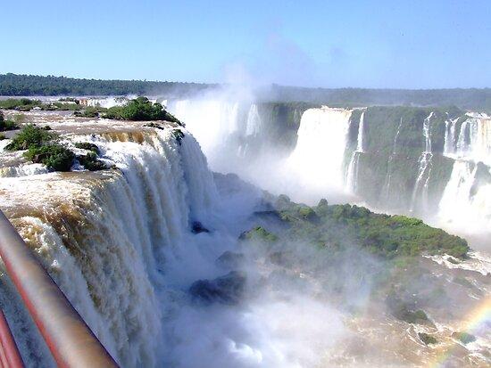 Iguassu Falls, Brazil, South America by Maureen Smith