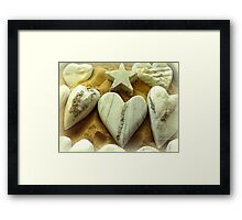 Hearts and Stars Framed Print