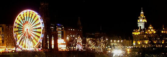 Princes Street at Christmas by Steven McEwan