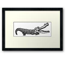 Alligator Drawing Framed Print