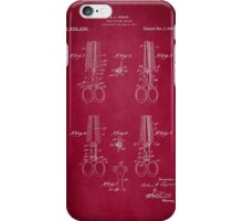 Vintage Cutting Shears Patent 1920 iPhone Case/Skin