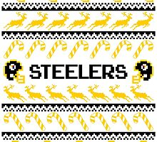 Steelers Football Christmas Ugly Sweater by CosmikMonkey