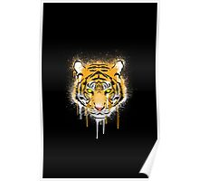 Graffiti Tiger Poster