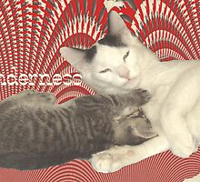 Tenderness _ Red Background by Dean Warwick