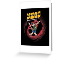 Ness Saves The Earth Greeting Card