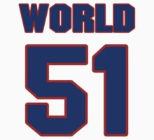 Basketball player Metta World jersey 51 by imsport