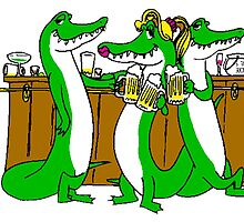 Alligators At Bar by kwg2200