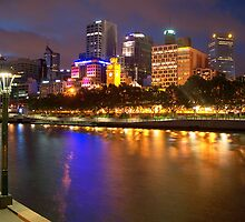 Melbourne City at Night II by Tom Newman