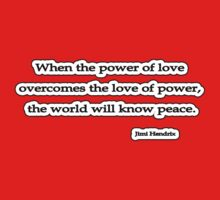 Power of love, Jimi Hendrix by Tammy Soulliere