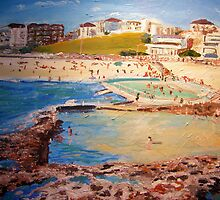 Bondi Rocks...... by gillsart