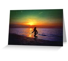 Painted sunset.. Greeting Card