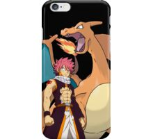 Natsu and Charizard iPhone Case/Skin