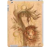 """THE LEO"" - Protective Angel for Zodiac Sign iPad Case/Skin"