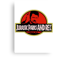 Jurassic Parks and rec Canvas Print
