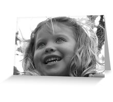 Her Eyes Light Up Greeting Card
