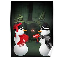 U MELT MY HEART FUN SNOWMAN PICTURE,CARD,PILLOW AND OR TOTE BAG Poster