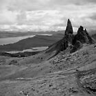 The Old Man Of Storr BW by Jan Cervinka