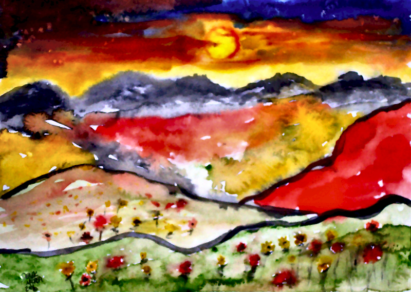 Abstract Sunrise by derekmccrea