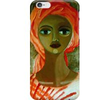 Woman with turban iPhone Case/Skin