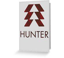 Destiny - Hunter Greeting Card