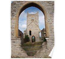 Ruined Church in Somerset - 2 Poster