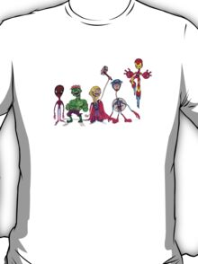 Spindleneck. (The Avengers Ft. Derp Spidey) T-Shirt