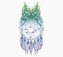 Dreamy Owl_Multi Blue Kids Clothes