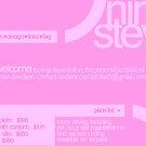 Portfolio Layout - Minimal Pink by Bryan Davidson
