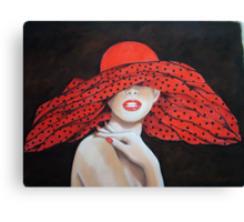 The Polkadot Hat Canvas Print