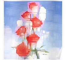 Red and White Flowers Poster