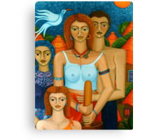 3 Ages of a Woman and a Man Canvas Print