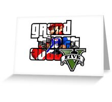 Grand Theft Auto V Mario Kart Greeting Card