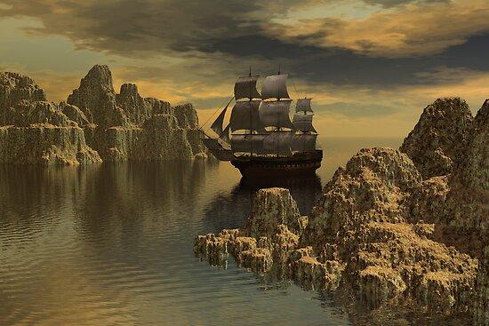 On The Casperian Sea by Lisa  Weber