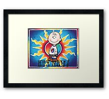 Hey Now!!! Charlie Brown Framed Print