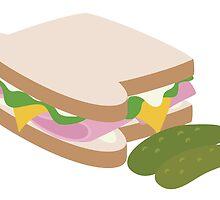 Ham Sandwich by minty-fresh15