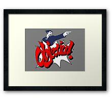 Objection Framed Print
