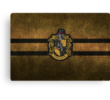 Hufflepuff Knitted Canvas Print