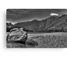 Mountain Stream BW Canvas Print