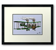 WORLD WAR ONE BOMBER AEROPLANE VICKERS VIMY STYLE STEAMPUNK Framed Print