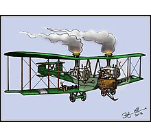WORLD WAR ONE BOMBER AEROPLANE VICKERS VIMY STYLE STEAMPUNK Photographic Print