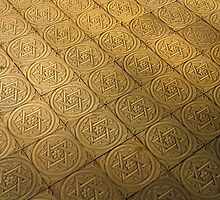Star of David engraved in stone - Judaism by Ron Zmiri