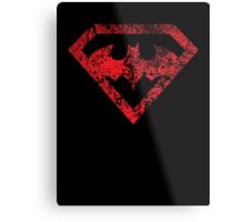 Superman vs. Batman Distressed Metal Print