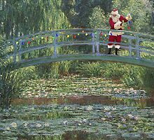 The Japanese Bridge At Christmas Time by umble