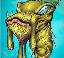 Strange Wolverton Alien Invader Art by Al Rio by alrioart