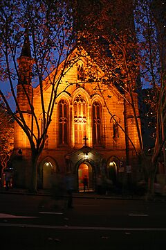 Church at Night by Sara Lamond