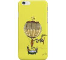 STEAMPUNK HOT AIR BALLOON (Gold) iPhone Case/Skin