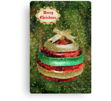 One Big Christmas Bauble ~ in Snow Canvas Print