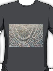 Old cobbled stones road background T-Shirt