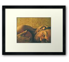 Reclining Male with Orange Framed Print